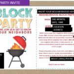 Sample block party invite